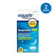 Equate Ibuprofen and Diphenhydramine Citrate Tablets, 200 mg/38 mg, Pain Reliever (NSAID)/Nighttime Sleep-Aid