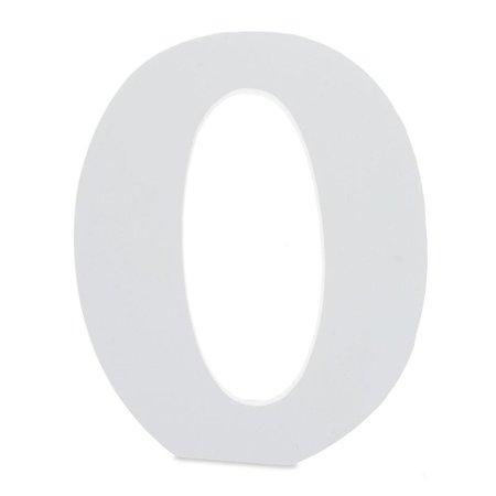 Letter Set Helvetica Font - Courier Font White Color Wooden Letter O (6 Inches)