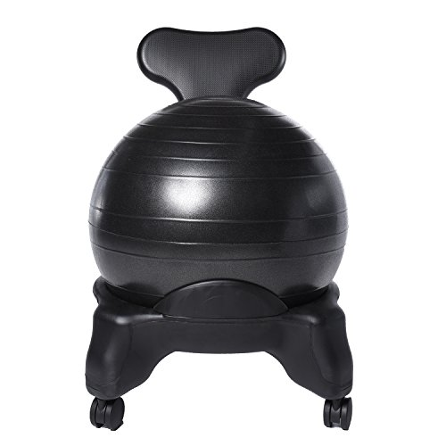 Ivation Balance Exercise Ball Chair U2013 Office Size 60mm/2.5