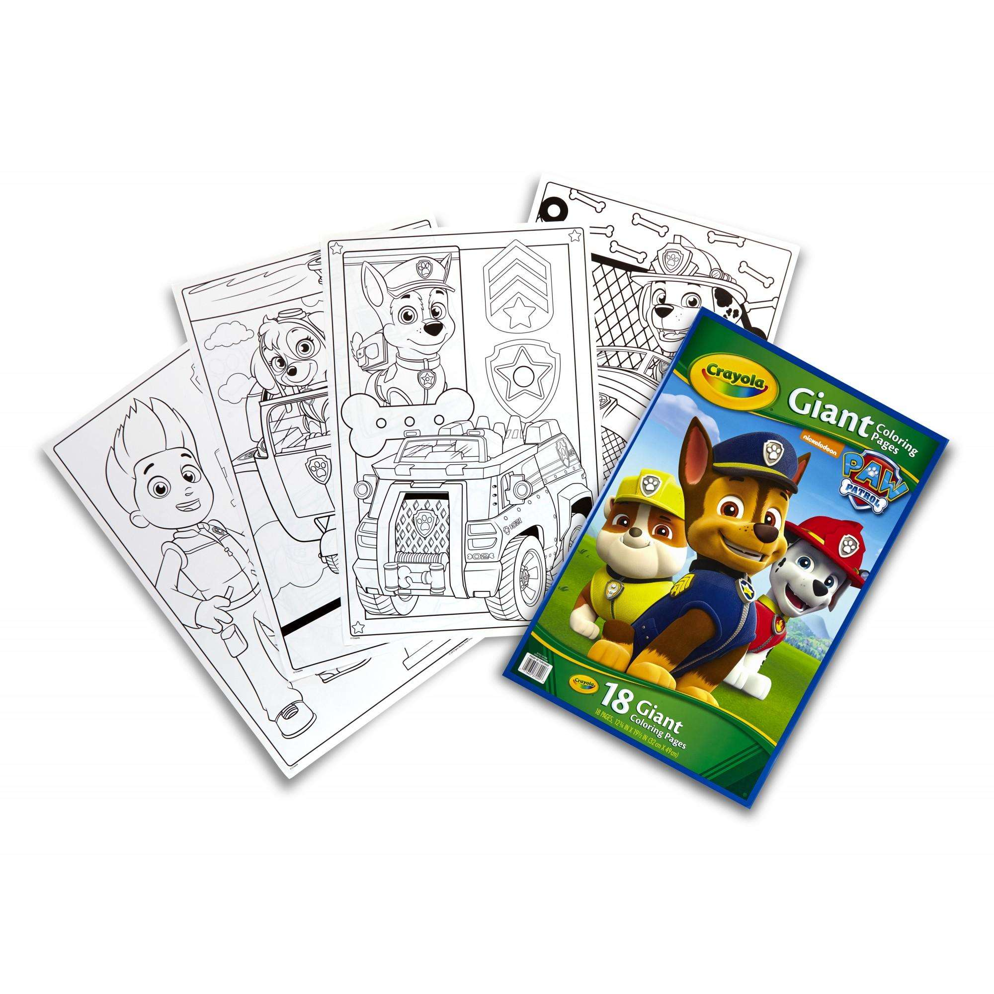 crayola giant coloring pages nickelodeon paw patrol walmart com