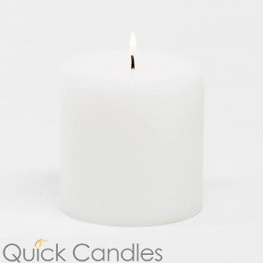 "Richland 4"" x 4"" Ivory Pillar Candle"