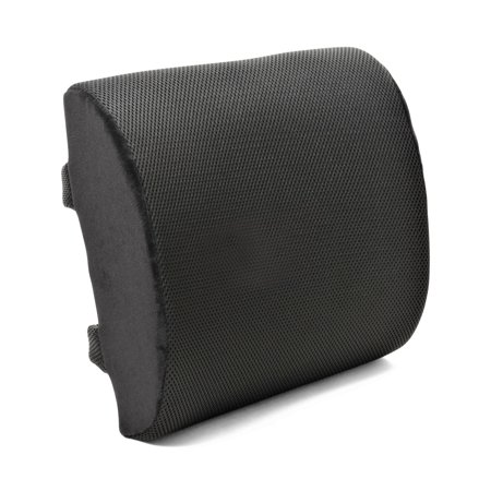 Plixio Memory Foam Lumbar Back Support Seat Cushion For Office Chair And Car Orthopedic Posture Pillow With Mesh Cover And Adjustable Straps