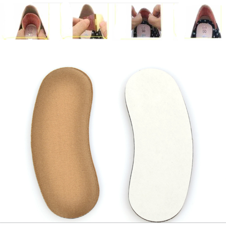 5 Pairs Sticky Fabric Shoe Pads Cushion Liner Grips Back Heel Inserts Insoles - Fully Padded Insole