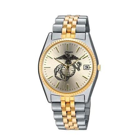 US Marines 2 Tone Womens Bracelet Watch ()