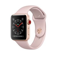 Refurbished Watch Series 3 38mm Gold Aluminum Case Pink Sand Sport Band GPS + Cellular - Apple MQJQ2LL/A