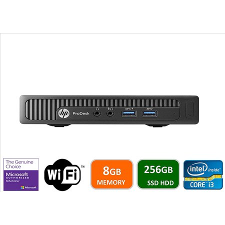HP 600 G1 Micro Computer Mini Tower PC (Intel Quad Core i3-4160T, 8GB DDR3 RAM, 256GB Solid State SSD, WIFI, VGA, USB 3.0) Windows 10 Pro - Certified