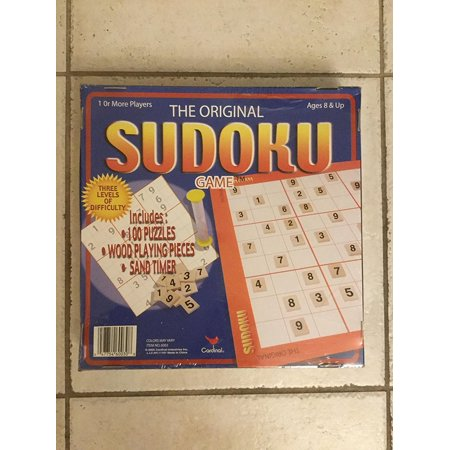 The Original Sudoku Game with 100 Puzzles & Wood Playing Pieces