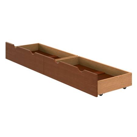 Alaterre Underbed Storage Drawers, Set of 2, Chestnut Underbed Drawer Unit