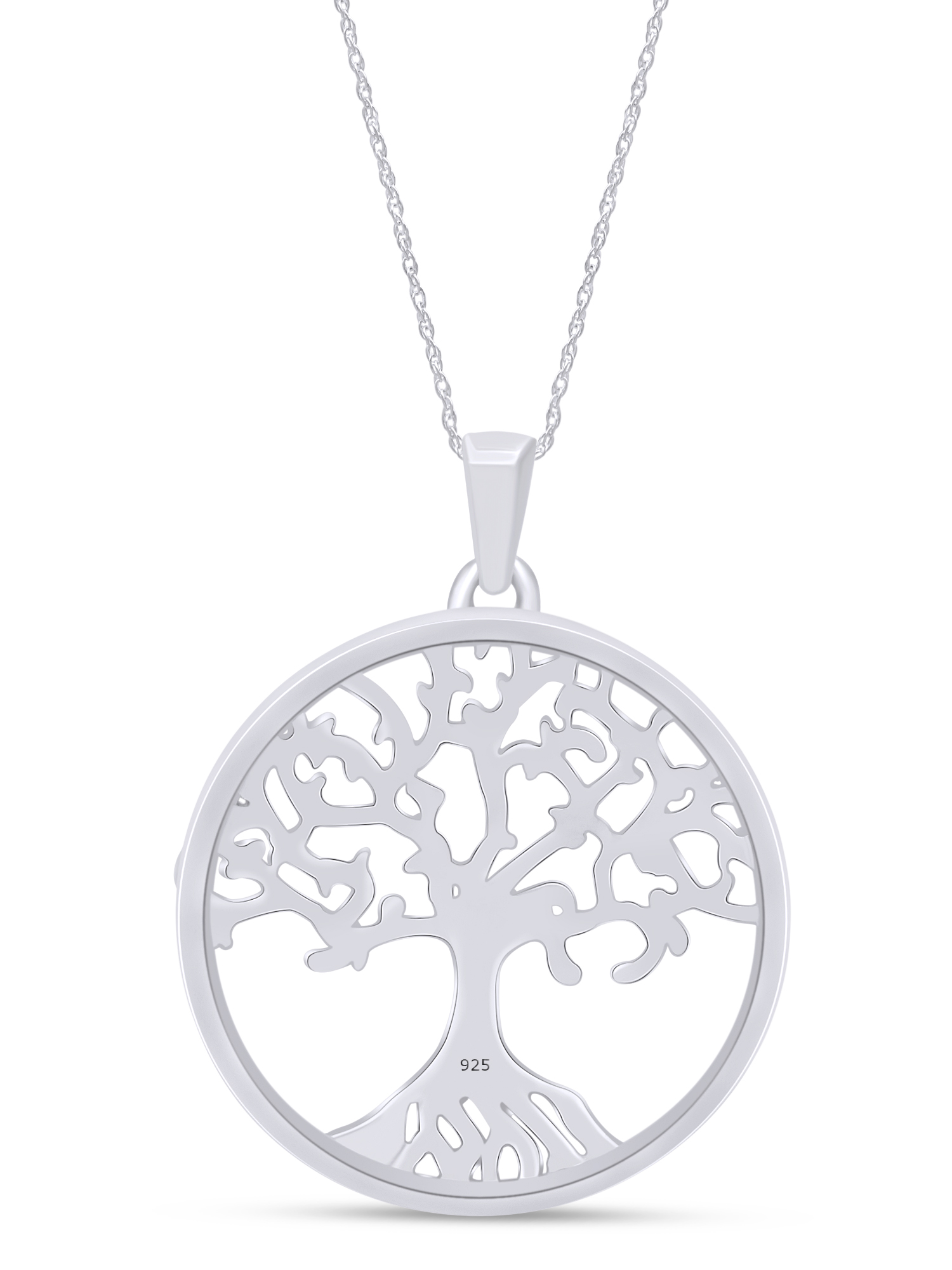 Snowy Christmas Style Charm Jewellery Gift White Tree of Life Necklace Pendant