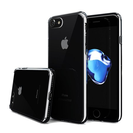 iPhone 7 Case - Quirkio - Crystal Clear TPU Gel Transparent Protective Cover Ultra Slim Soft Rubber Dust Proof Hard Bumper Back Skin Slim Fit Case for iPhone 7