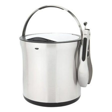 OXO SteeL Ice Bucket and Tongs