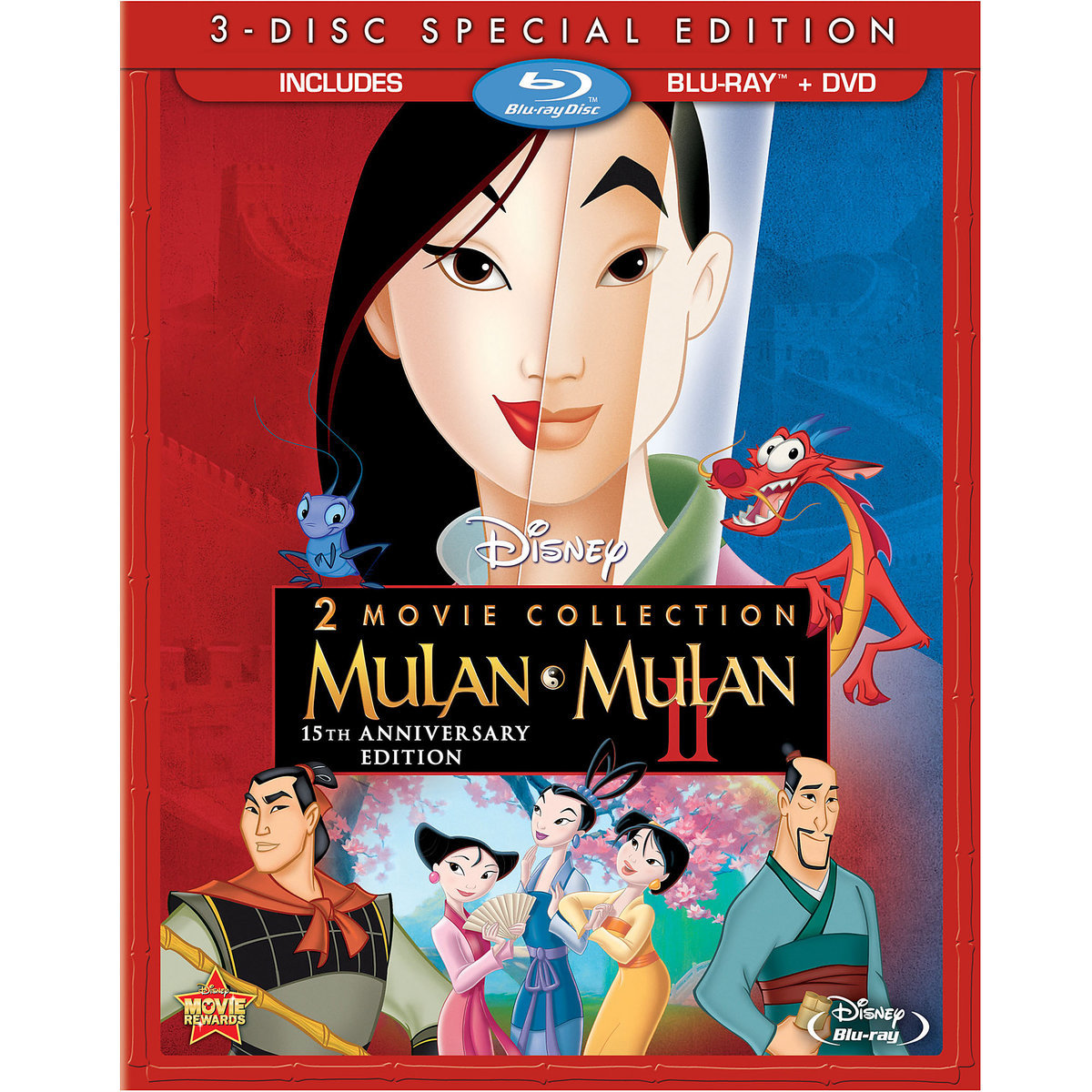 Mulan 2 Movie Collection (15th Anniversary Edition) (Blu-ray + DVD)