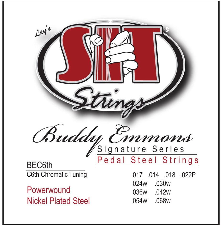 SIT BEC6TH Buddy Emmons Pedal Lap Steel Guitar Strings (17-68) by SIT Strings