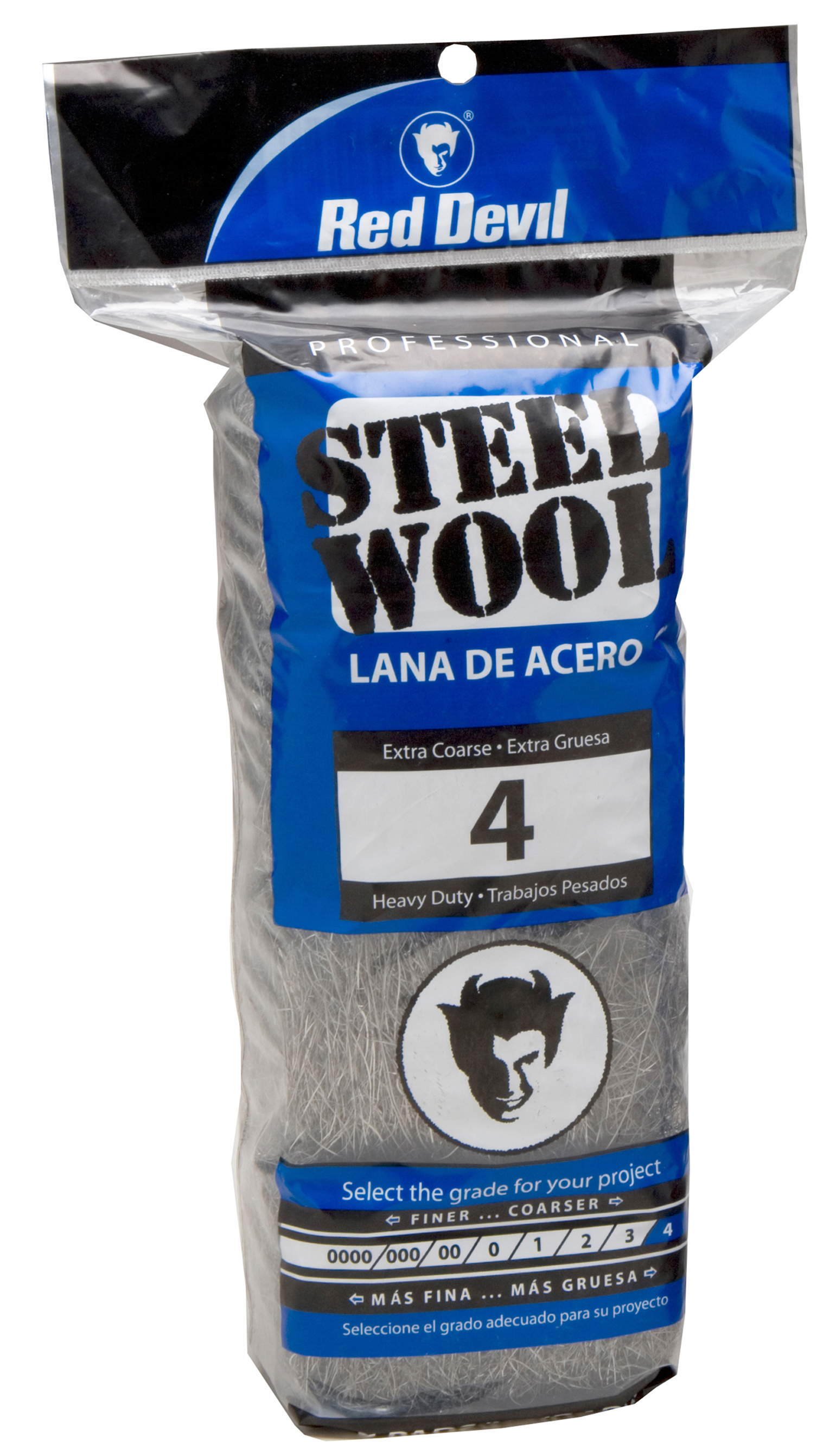 Red Devil 0327 Steel Wool 4 Extra Coarse 8 Pads
