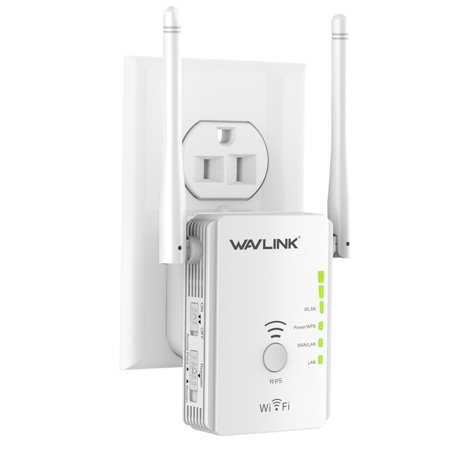 Wavlink 300Mbps Wireless WI-FI Range Extender/ Wireless Repeater/Access Point/ Signal Booster Amplifier/ Wireless Router with 2 High Performance External Antennas-White