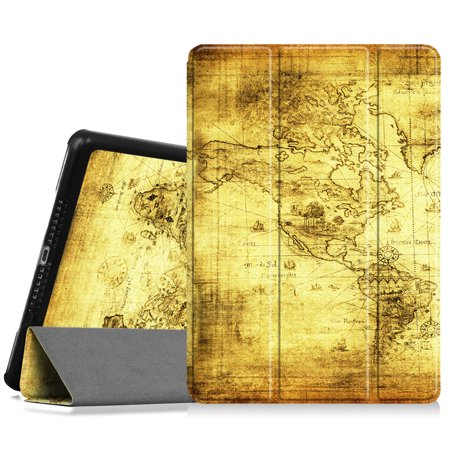 Fintie iPad 9.7 Inch 2018 / 2017 Case, SlimShell Cover for iPad 6th Gen / 5th Gen /iPad Air 2 / iPad Air, Ancient Map