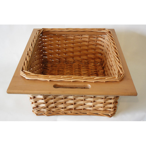 Desti Design Willow Basket with Wood Edge