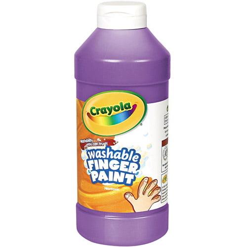 Crayola Washable Fingerpaint, Violet, 16 oz