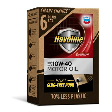 Havoline SMART CHANGE Motor Oil 10W-40, 6qt (Havoline Tc W3 2 Cycle Motor Oil)