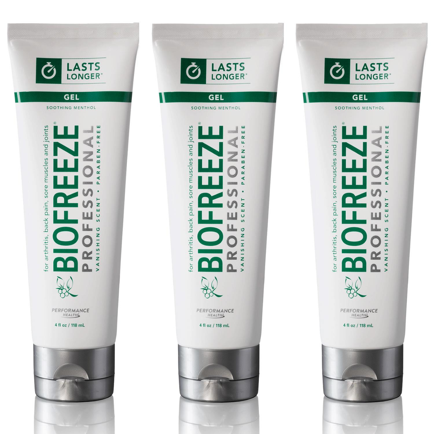 Biofreeze Biofreeze Professional 4oz Gel Tube 3PK Pain Relief Arthritis Back Muscle