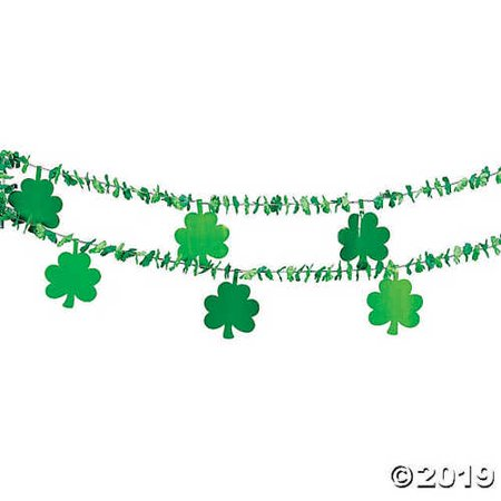 Garland with Shamrock Cutouts - Shamrock Cutout