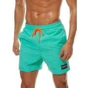 Men Boys Board Shorts+PocketSwimwear Swim Shorts Bottom Trunks Pants Beach Boardshorts Summer Swimsuit Beachwear Casual Surfing Swimming Costumes Bathing Suit Quick Dry Solid Color