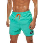 Men Boys Board Shorts+PocketSwimwear Swim Shorts Bottom Trunks Pants Beach Boardshorts Summer Swimsuit Beachwear Casual Surfing Swimming Costumes Bathing Suit Quick Dry Solid Color