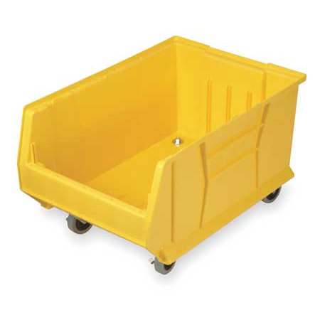 Quantum Storage Systems 250 lb Capacity, Mobile Bin, Yellow