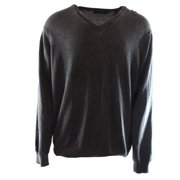 Perry Ellis NEW Gray Mens Size XL V-Neck Solid Pullover Knit Sweater $59 #009