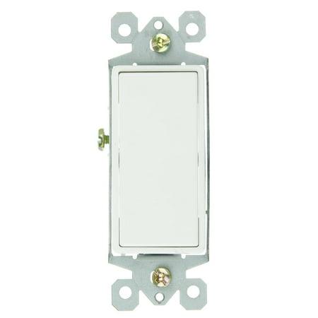 Sunlite E511 3 Way Grounded Rocker Switch, White