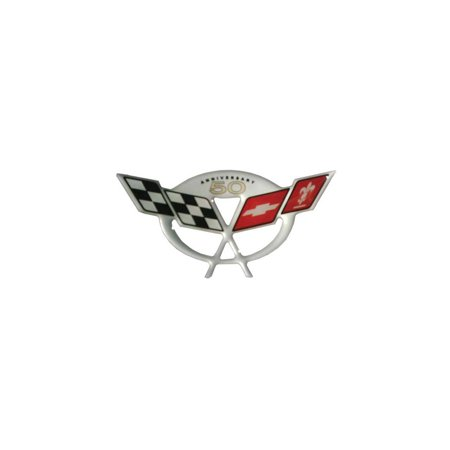 Eckler's Premier  Products 25-286850 Corvette C5 50th Anniversary 3D Domed Logo Decal 3.25