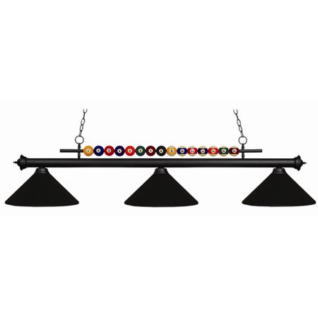 Z-Lite Shark 3-Light Billiard - Z-lite Glass Billiards Lighting Fixture