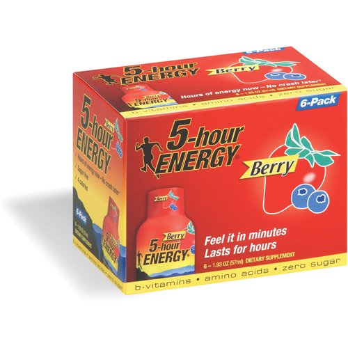 5-hour Energy Shots Berry, 6ct