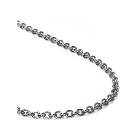 - Titanium 3MM Rolo Necklace Chain 24