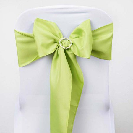 Efavormart 25 PCS Polyester Chair Sashes Tie for Wedding Events Banquet Decor Chair Bow Sash Party Decoration Supplies - (Gold Wedding Mounting)