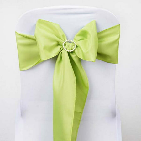 Efavormart 25 PCS Polyester Chair Sashes Tie for Wedding Events Banquet Decor Chair Bow Sash Party Decoration Supplies - (Make Pew Bows Wedding)