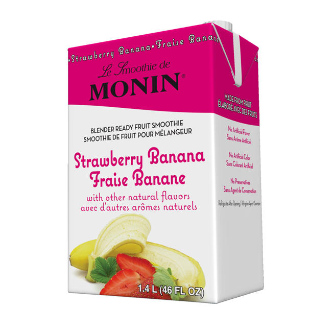 Monin® Strawberry Banana Fruit Smoothie Mix