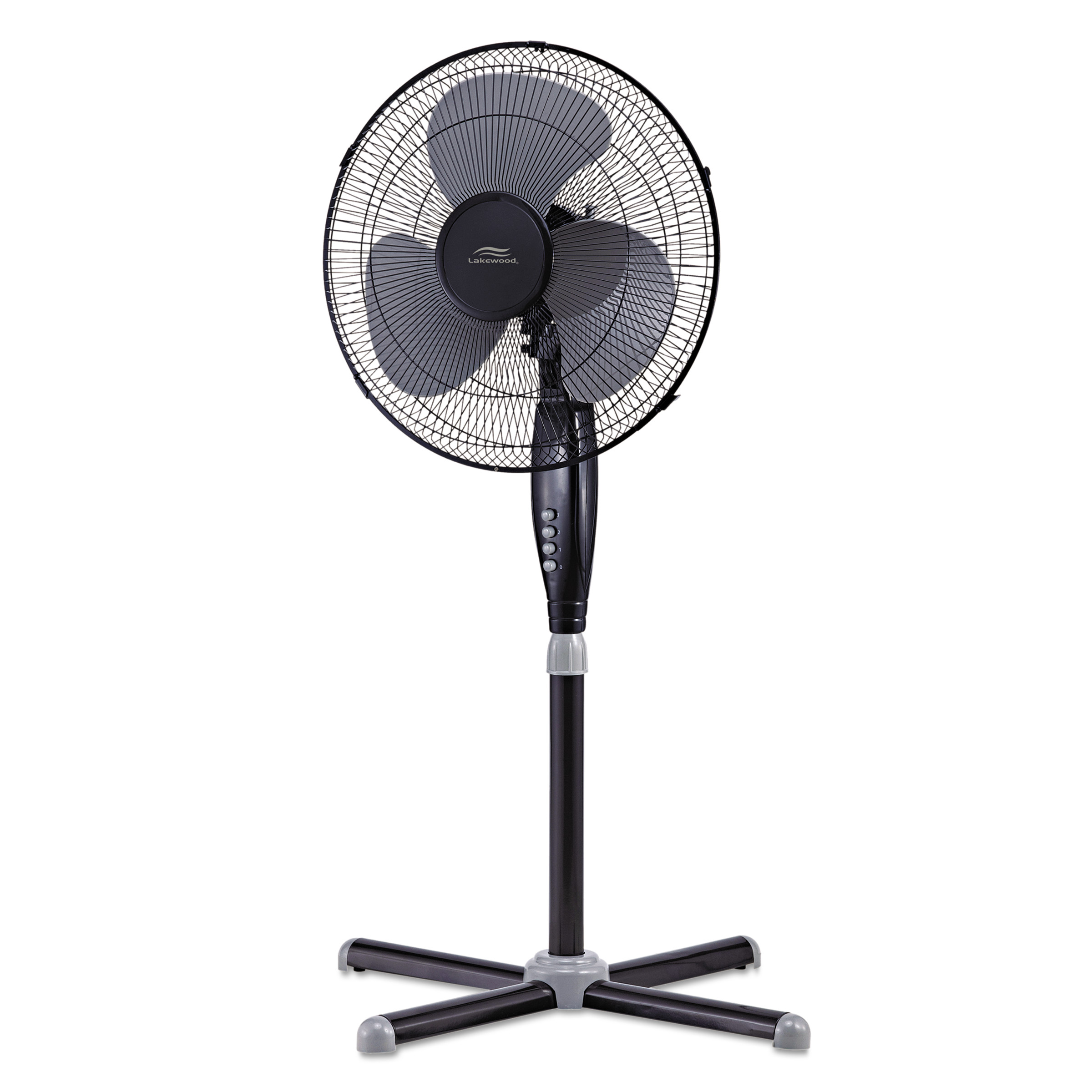 metal pedestal fan lakewood 16 quot three speed oscillating pedestal fan three 4097