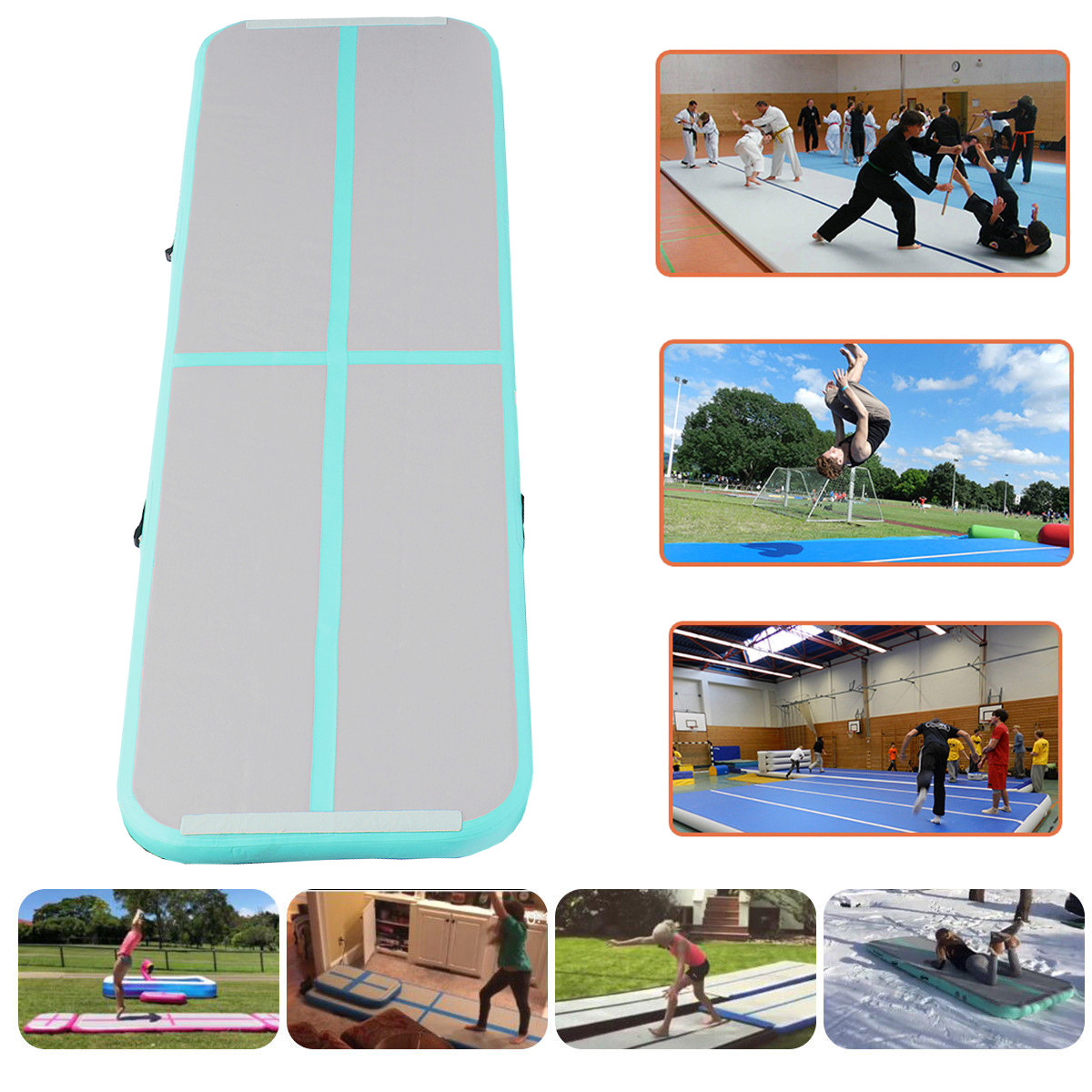 1Pcs 10ft x 1.3ft x 4inch Air Track Floor Home Gymnastics Tumbling Mats Inflatable Air Tumbling Tracks GYM For Floor Home Back Yard  (Not Included Pump)