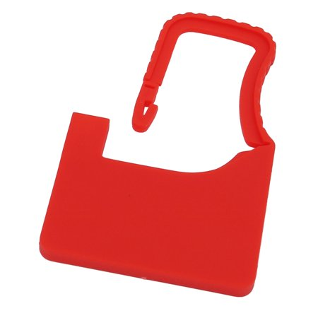 60mm x 38mm x 3.6mm Plastic Seal Padlock Red for Luggage Trunk