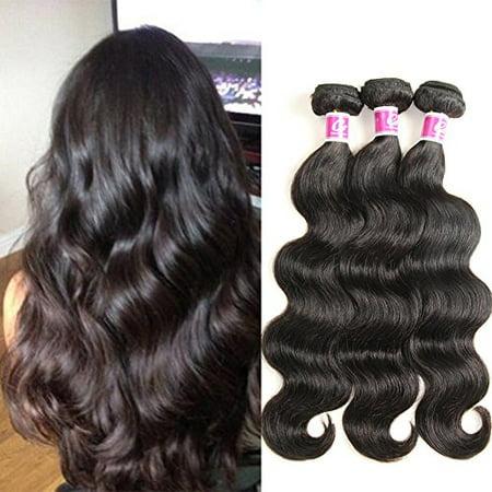 Remi Deep Wave - Hair Bundles Brazilian Wave Remy Human Locks Deep Black 8 10 & 12