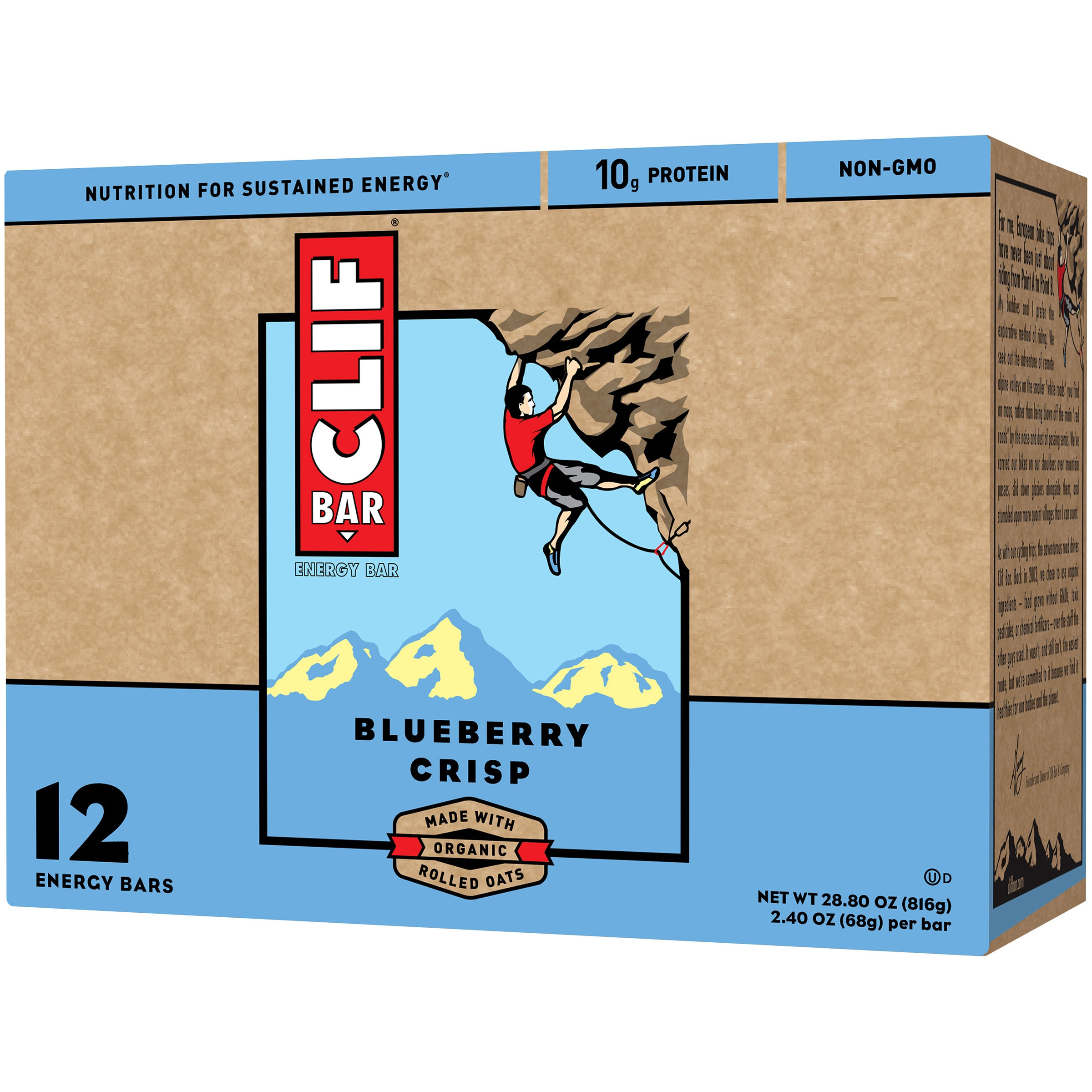 Clif Bar Blueberry Crisp Energy Bars, 2.4 oz, 12 ct by Clif Bar & Company