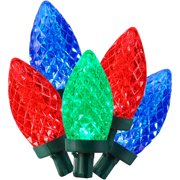 Holiday Time 100 LED Multicolor Super Bright G30 Lights, 59.5', Indoor and Outdoor