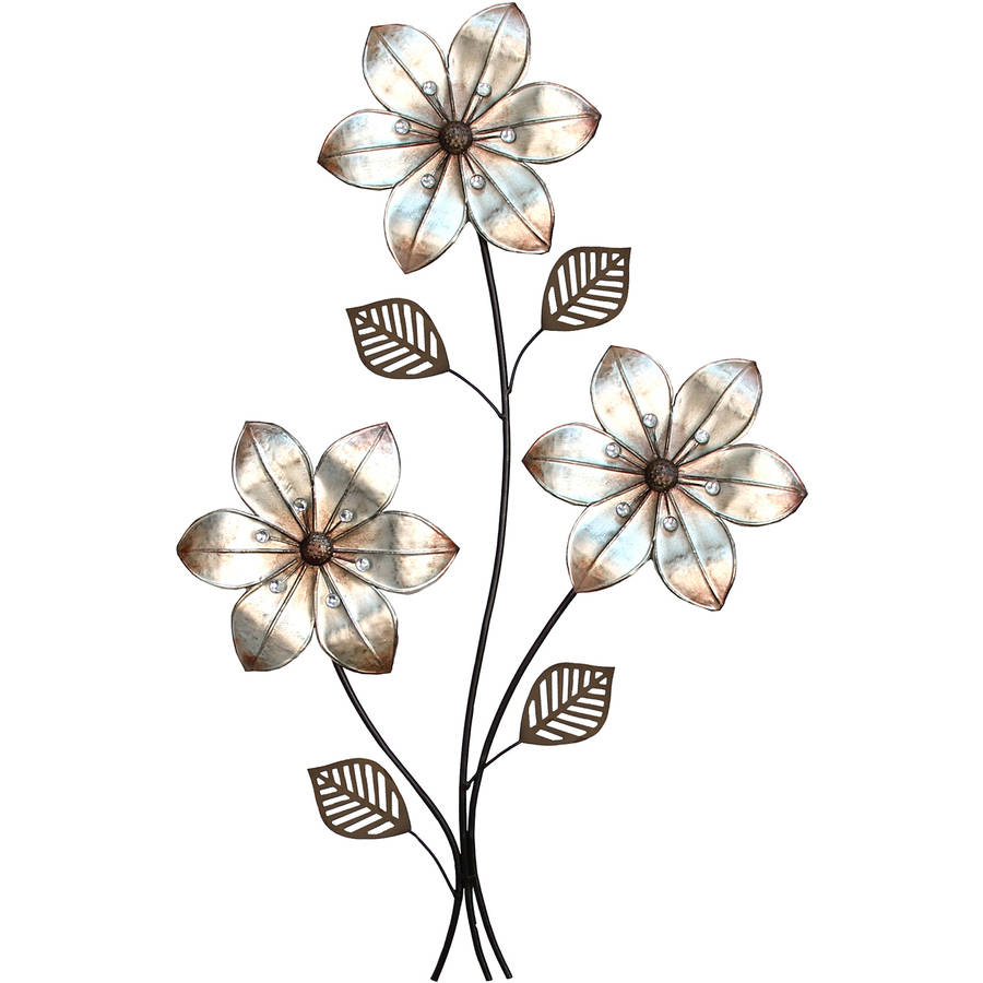 Stratton Home Decor Eclectic 3 Stem Floral Wall Decor by Stratton Home Decor