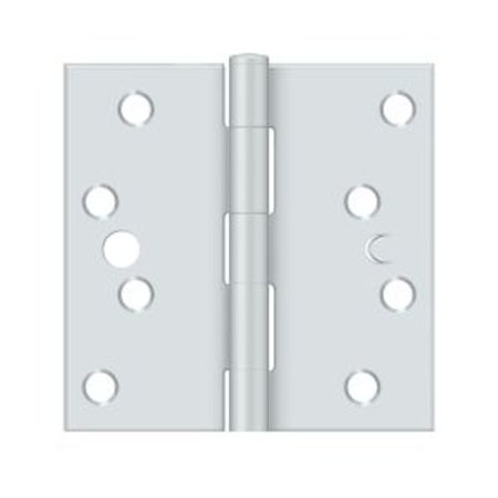 Deltana 4'' H x 4'' W Butt/Ball Bearing Single Door Hinge Bearing Square Deltana Hinge