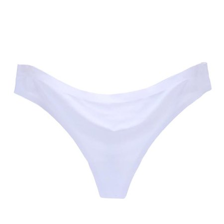 Sexy Women Invisible Underwear Briefs G-Strings Ice Silk Seamless Crotch WH XL