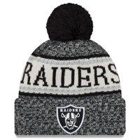 Las Vegas Raiders New Era 2018 NFL Sideline Cold Weather Official Sport Knit Hat - Black - OSFA