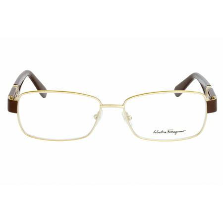 Salvatore Ferragamo Eyeglasses SF2151R 745 Shiny Gold-Brown Rectangular (Best Salvatore Ferragamo Mens Eyeglasses)