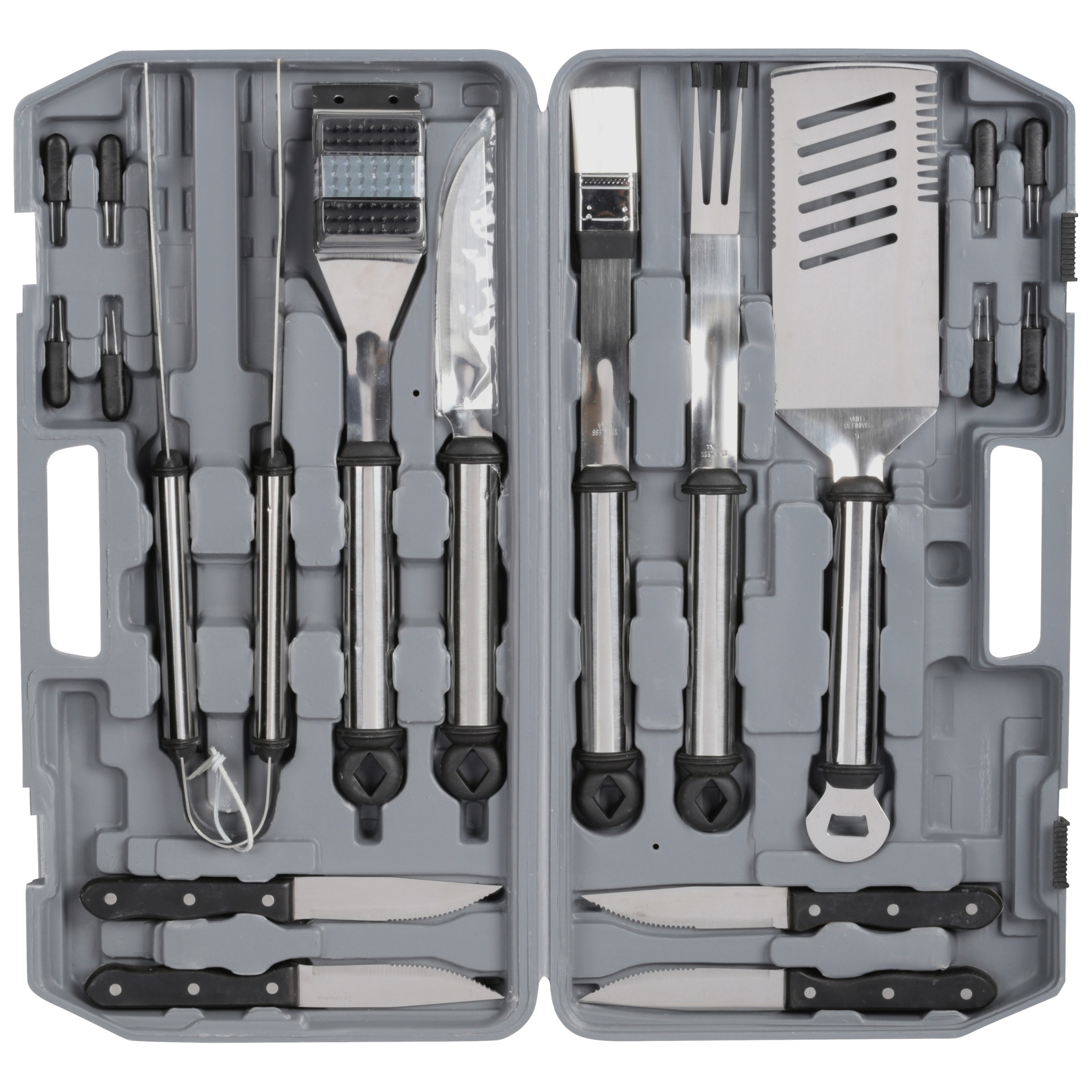 Mr. Bar-B-Q® Original Gourmet Stainless Steel Tool Set 18 pc Pack