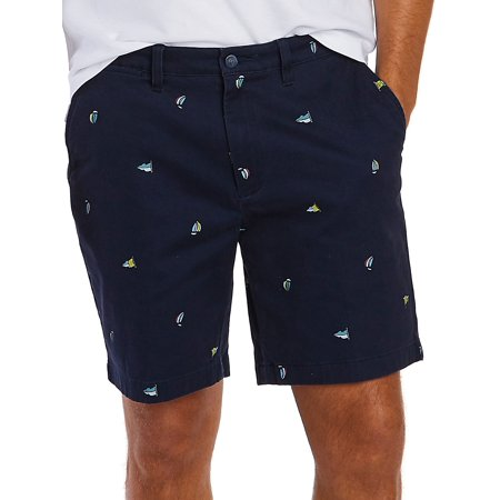 Timberland Mens Shorts (Sailboat Flag Motif Classic-Fit Deck Shorts)